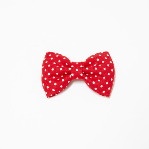 Pretty Wild Georgie Single Bow Clip Red Spot