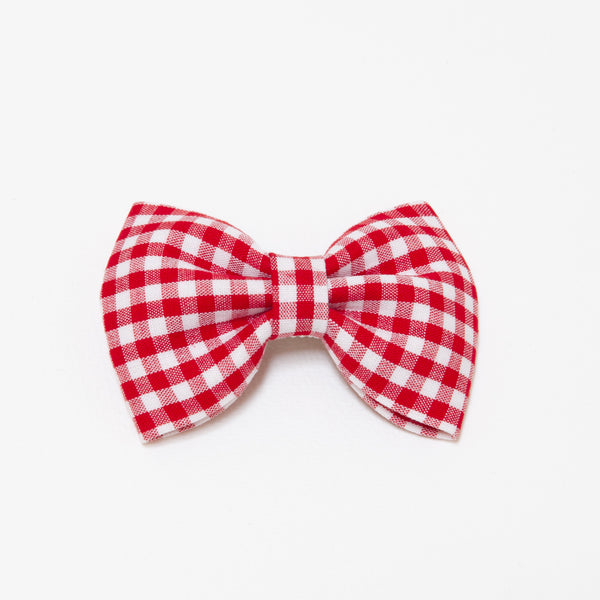 Pretty Wild Georgie Single Bow Clip Red Gingham