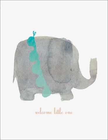 E Francis Welcome Elephant Baby Card