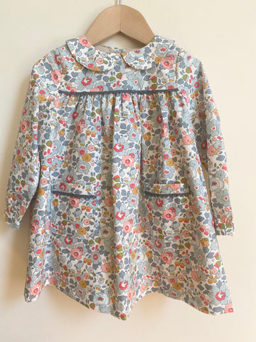 Pretty Wild Kids Bella Long Sleeve Dress - Liberty Powder Blue