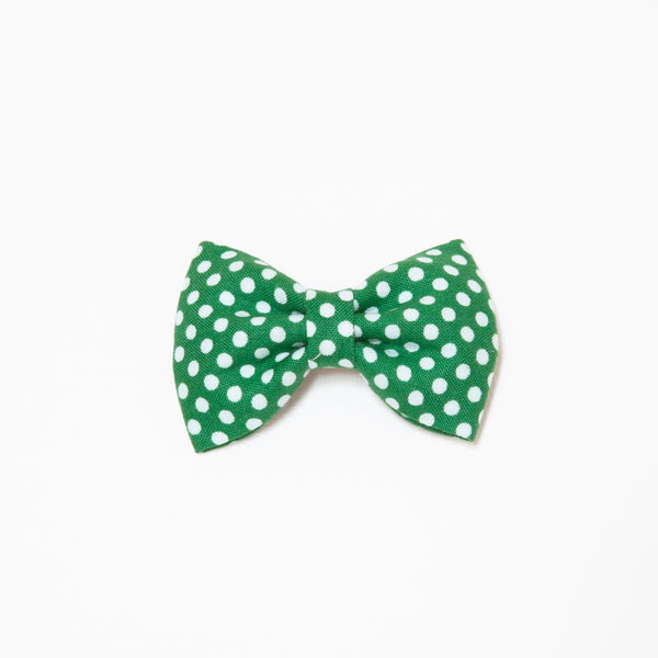 Pretty Wild Georgie Single Bow Clip Green Spot