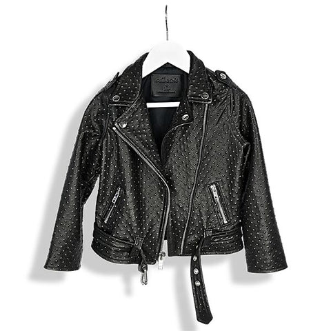 Laer LA Black Stud Moto Leather Jacket