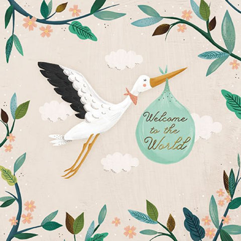 Paper House Welcome to the World Baby Card