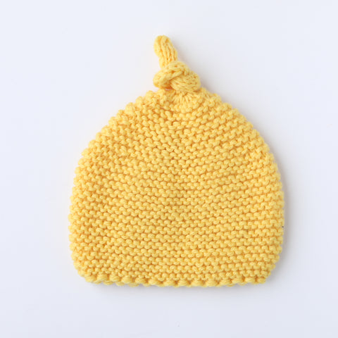Knitted by Nana Merino Beanie - Sunflower 3-9M
