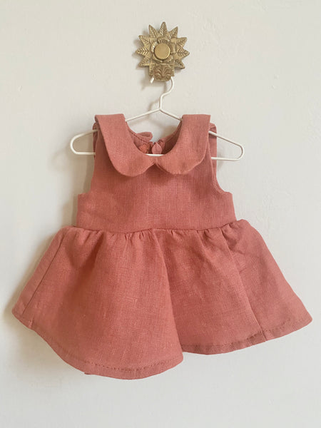 Pretty Wild Dolls Dress - Coral Linen