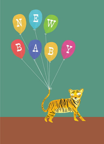 Hutch Cassidy Tiger New Baby Card