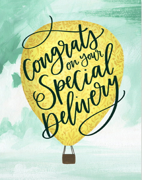 1canoe2 Special Delivery Hot Air Balloon Card