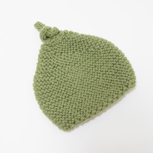 Knitted By Nana Beanie - Leaf 3-9M