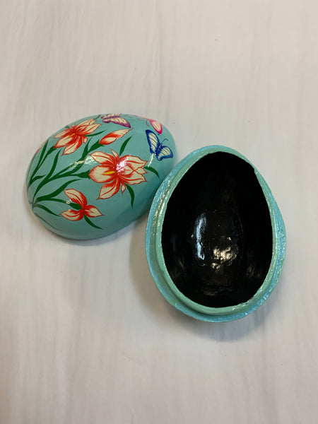 Wooden Hand painted Easter Egg Box
