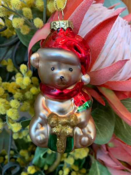 Vintage Style Christmas Decoration - Teddy Bear