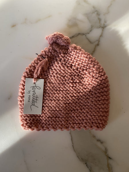 Knitted by Nana - Rose Petal 3-9M