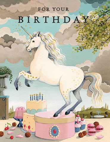 Joojoo Paper Foil Card Unicorn Birthday