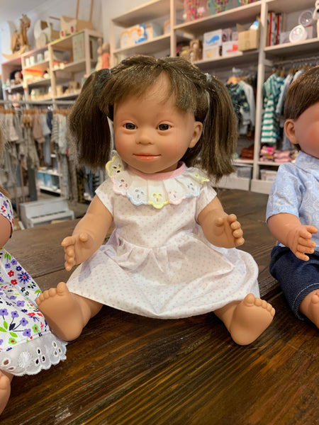 Down Syndrome Doll - Long Hair Girl 40cm