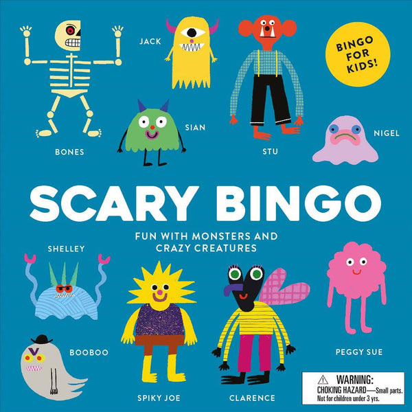 Scary Bingo: Fun with Monsters and Crazy