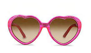 Minista Linda Heart Shaped Sunglasses Pink