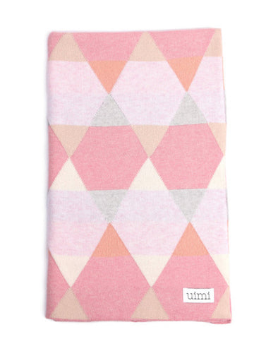 Uimi Cotton Isaac Geometric Blanket Size: Cot Colour: Candy