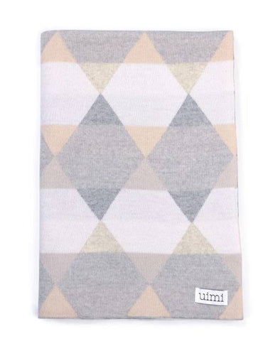 Uimi MERINO Isaac Geometric Blanket Size: Bassinet Colour: Salt