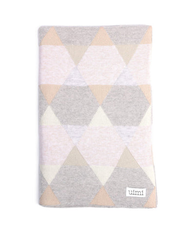 Uimi Cotton Isaac Geometric Blanket Size: Cot Colour: Whisper