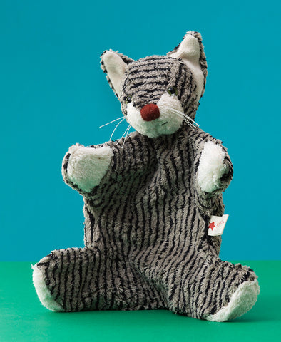 Kallisto German Hand Made Hand Puppet - Grey Cat