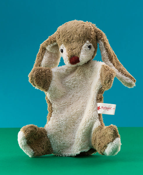 Kallisto German Hand Made Hand Puppet - Light Brown Rabbit