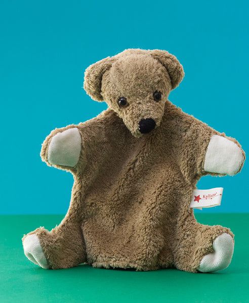 Kallisto German Hand Made Hand Puppet - Light Brown Bear