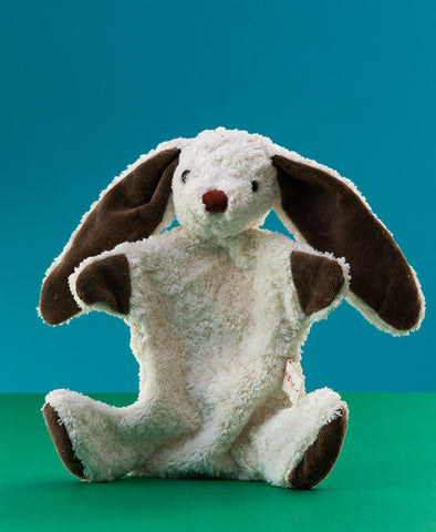 Kallisto German Hand Made Hand Puppet - White Rabbit