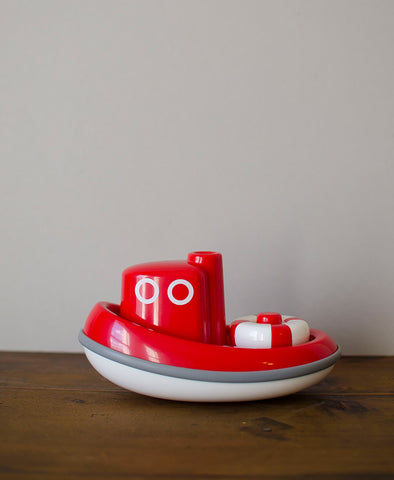 Kido Floating Tug Boat Bath Toy (Red)