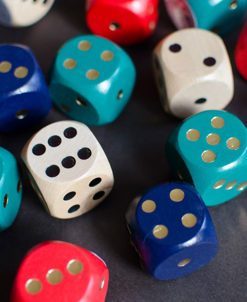 Extra Large Wooden Dice - Assorted Colours
