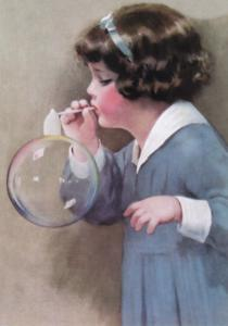 Laughing Elephant Girl Bubble Blower