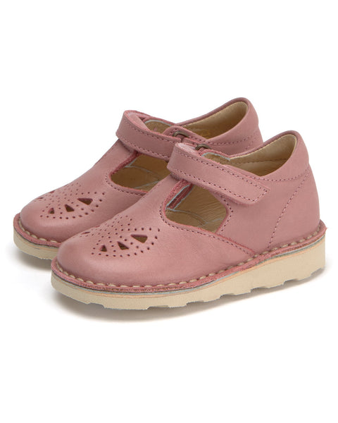 Young Soles Poppy T Bar Damson Pink