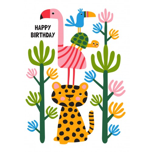 Little Red Owl Card - Jungle Stack Birthday Card