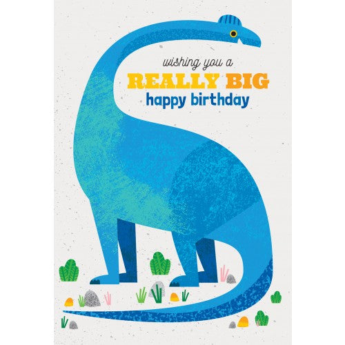 Little Red Owl - Blue Dinosaur Birthday