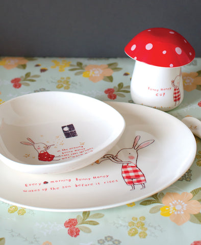 Maileg Melamine Plate Set - Bunny Honey