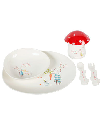 Maileg Melamine Dinner Set - Bunny Honey Green