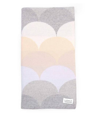 Uimi Memphis Double Sided Merino Blanket. Size: Bassinet. Colour: Salt