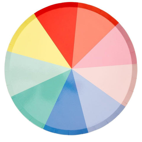 Meri Meri Colour Wheel Rainbow Plate x 8