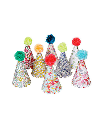 Meri Meri Assorted Liberty Party Hats 8 Pack