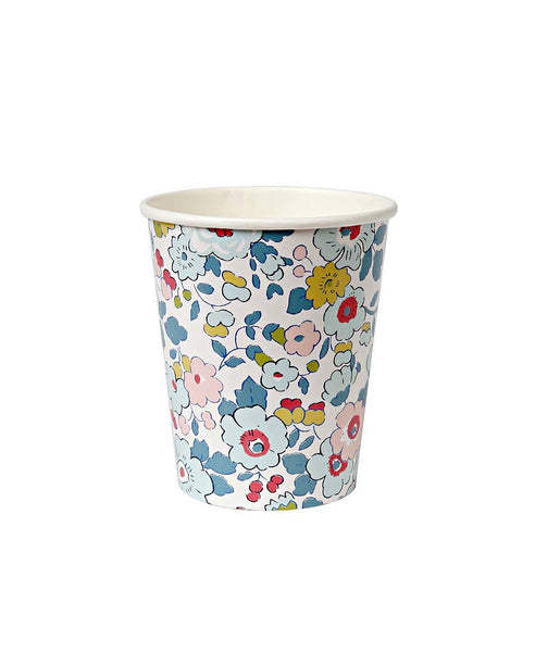 Meri Meri Blue Betsy Liberty Paper Cups (12 Set)