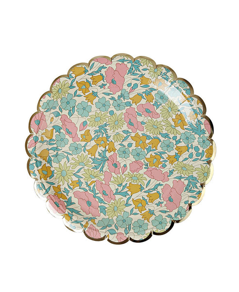 Meri Meri Poppy and Daisy Liberty Large Plates (8 Set)