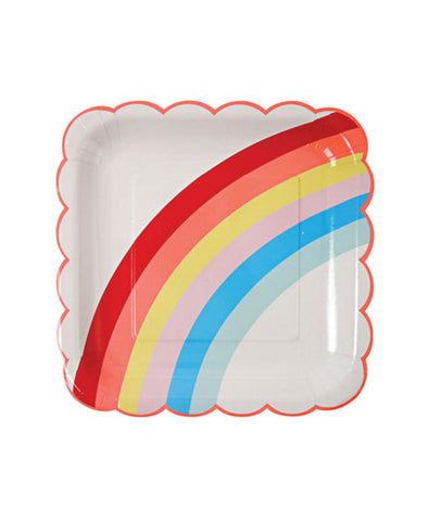 Meri Meri Toot Sweet Large Plates - Pk of 12: Rainbow