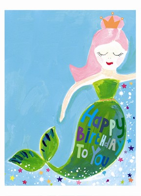 Paper Salad Jamboree Mermaid Embossed Card