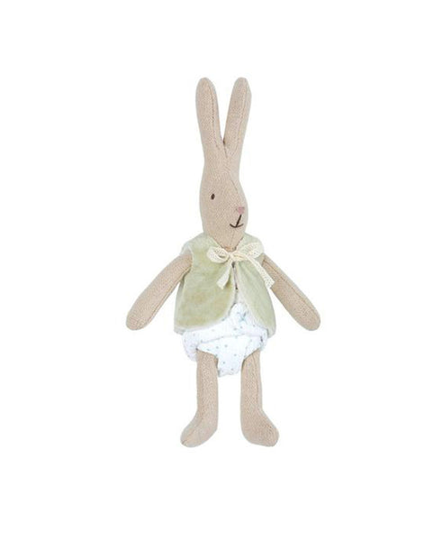 Maileg Rabbit Micro with Green Vest