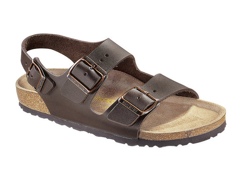Birkenstock Milano Dark Brown Smooth Leather NARROW