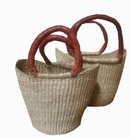 Inside Africa Genuine Hand Woven Mini U Shopper basket