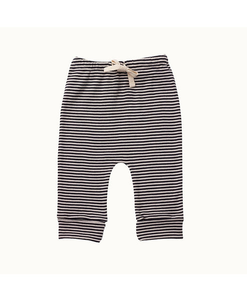Nature Baby Drawstring Pants Navy Stripe