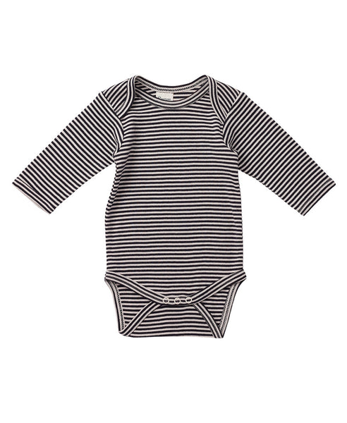 Nature Baby L/S Cotton Bodysuit Navy Stripe