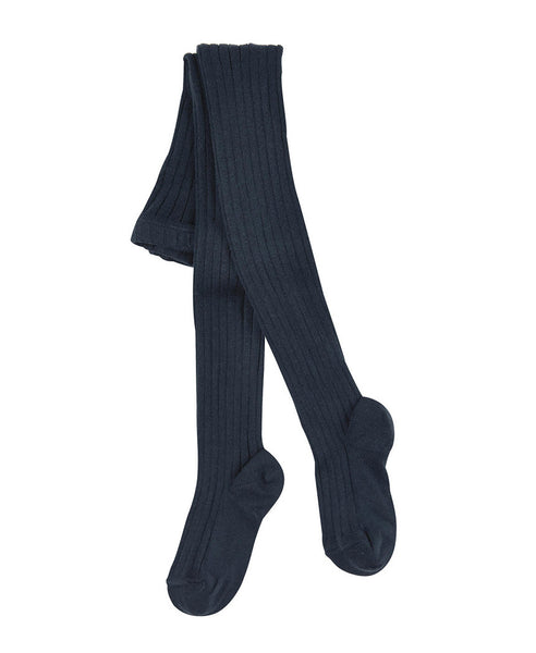 Condor Ribbed Tights (#480 Marino Navy)