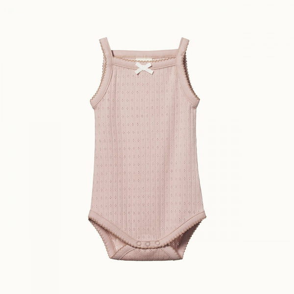 Nature Baby Pointelle Camisole Suit Rosebud