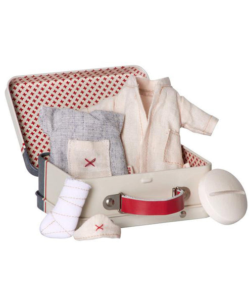 Maileg Nurse Doctor Clothes Set in Tin Micro - Emergency Set