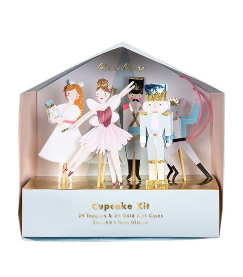 Meri Meri Nutcracker Cupcake Kit
